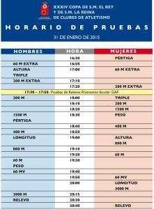 HORARIO COPA REINA 2015