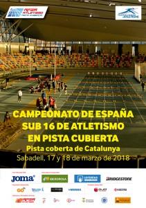 CARTEL.CTO.ESPAÑA SUB16 2018
