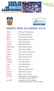 EQUIPO C.EUROPA 2018